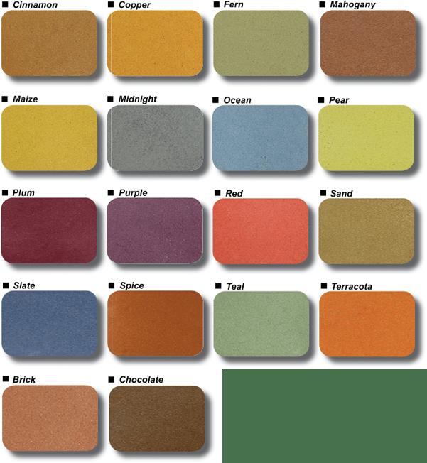 Color Fuse Colors Chart Arrowhead Deck And Concrete Llc