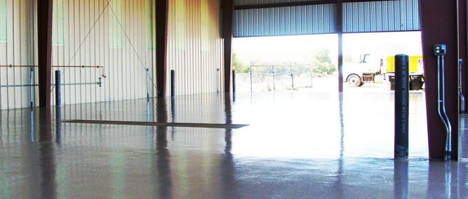 High gloss epoxy floors are durable and easy to clean