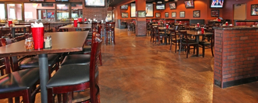 Concrete coatings are the preferred options for heavy traffic interior floors