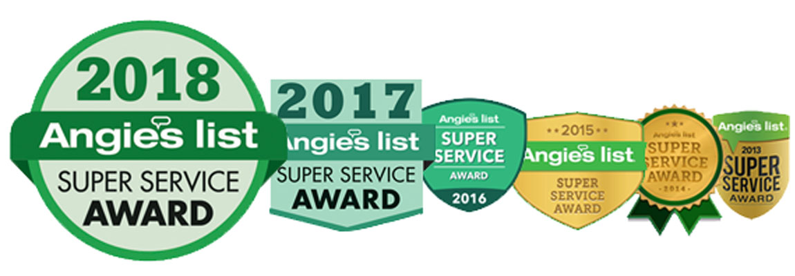 Angies List Super Service Award Winner 6 Years in a Row.