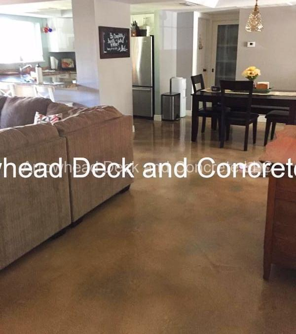 Stained concrete floor arrowhead deck and concrete llc for Stained concrete floors