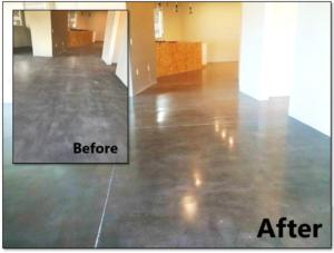 Concrete Polishing before and after