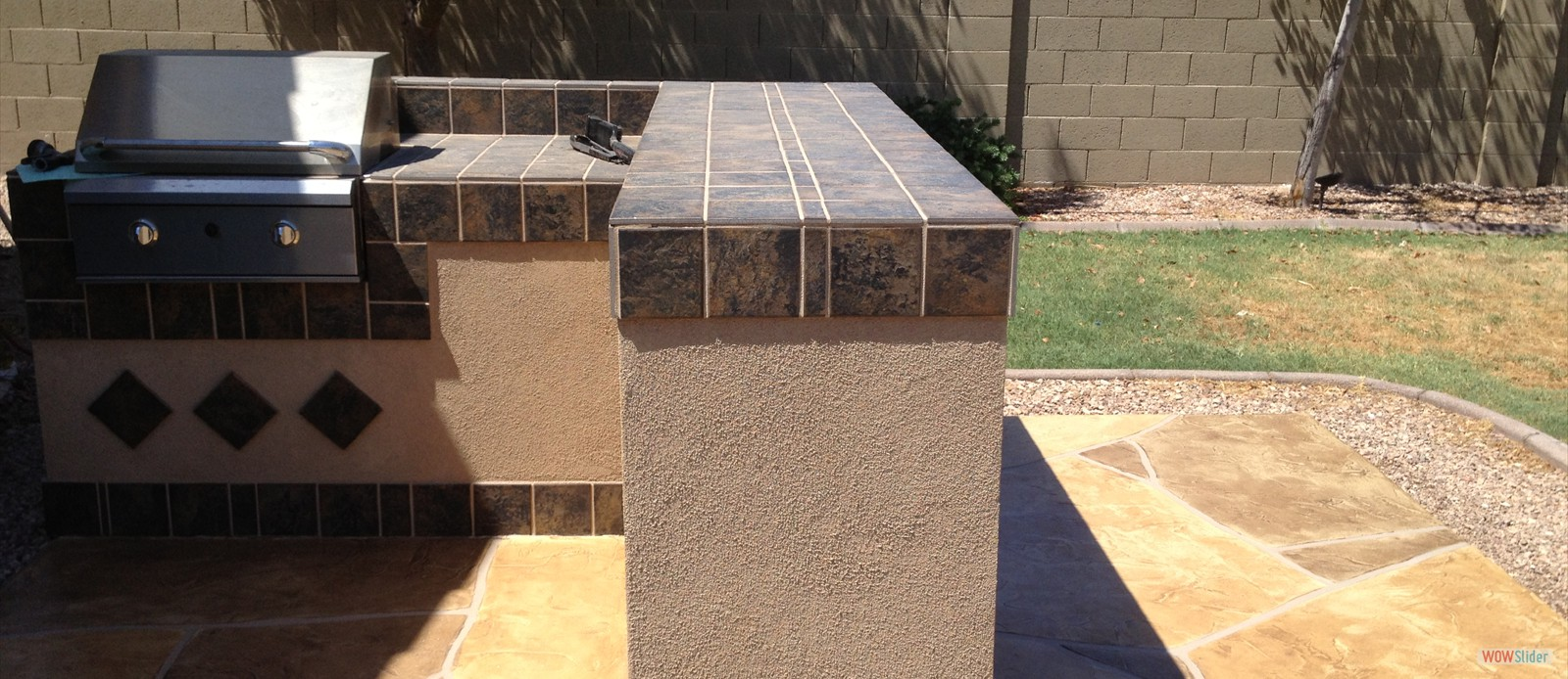 Barbeque Area with Flagstone After